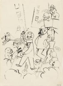 George Grosz, Der Agitator, 1920. Deutsche Bank Collection