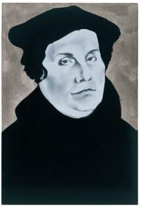 Wilhelm Sasnal, Luther, 2003. Sammlung Goetz, Munich. � Courtesy Johnen Galerie, Berlin, Photo: Achim Kukulies, D�sseldorf