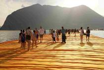 Christo and Jeanne-Claude, The Floating Piers, Lake Iseo, Italy, 2014-16