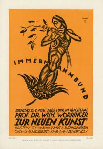 Adolf Uzarski, poster for a Worringer lecture, 1919, Reproduced in: Das Plakat. Zeitschrift