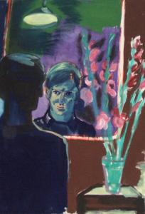Rainer Fetting, Selbstportrait mit Blumen I, 1981, Deutsche Bank Collection