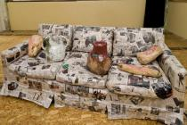 Jessica Jackson Hutchins, Couch For a Long Time, 2009; Collection of the artist; Courtesy Small A Projects, New York, and Derek Eller Gallery, New York; Photo Dan Kvitka