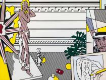 Roy Lichtenstein, Artist's Studio with Model, 1974
