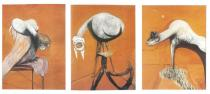 Francis Bacon, Three Studies for Figures at the Base of a Crucifixion, c.1944, Tate © Tate