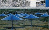 Christo, The Umbrellas (Joint Project for Japan and USA), Drawing 1990 in two parts