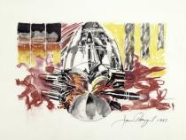"James Rosenquist, ""Study for The Swimmer in the Econo-mist (painting 1),"" 1997. Deutsche Bank Collection. Photo: Courtesy of the Solomon R. Guggenheim Photo Archives, New York. VG Bild-Kunst, Bonn 2017"