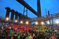 Audience at the opening of RUHR.2010 at the UNESCO World Cultural Heritage site Zeche Zollverein, Photo: Manfred Vollmer