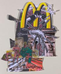 Agathe Snow, Arc de Triomphe, 2010. Collage for the catalogue 'All Access World'. Photo: Kris McKay. � Agathe Snow