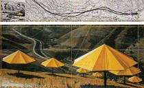 Christo, The Umbrellas (Joint Project for Japan and USA), Drawing 1988 in two parts