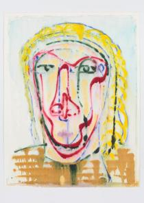 Nicole Eisenman , Untitled, 2011. Mixed-media monotype. The Hall Collection. � Nicole Eisenman; courtesy Leo Koenig Inc., New York