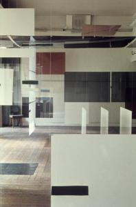 Richard Hamilton: an Exhibit (in association with Victor Pasmore and Lawrence Alloway), Installation view, Institute of Contemporary Arts, London, 1957. � Richard Hamilton Studio.