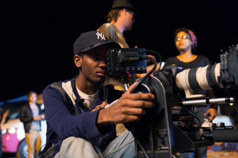 Ghetto Film School students filming in South Africa. Image courtesy of Ghetto Film School
