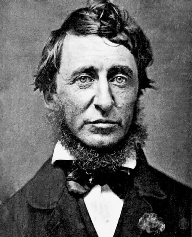 Henry David Thoreau, 1856. Photo: B.D. Maxham