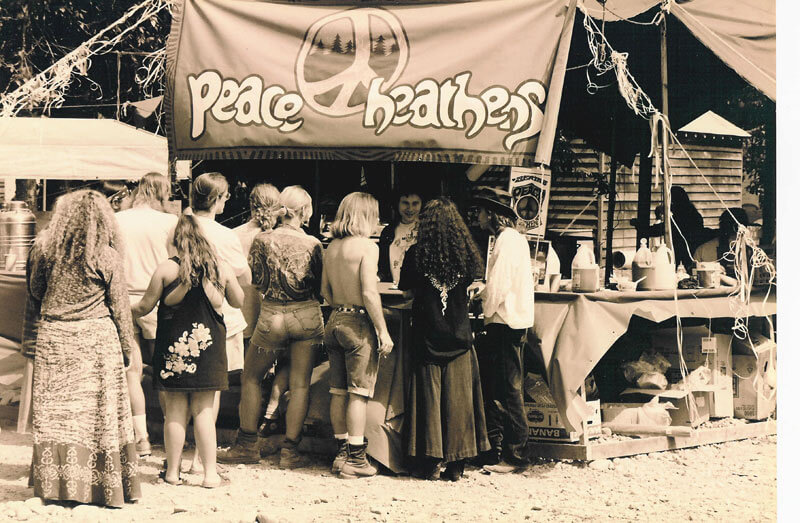 Peace Heathens field kitchen, 1993. Photo: Joe Mabel. commons.wikimedia.org/wiki/File:Snoqualmie_Moondance_1993_-_11.jpg (CC BY-SA 3.0)
