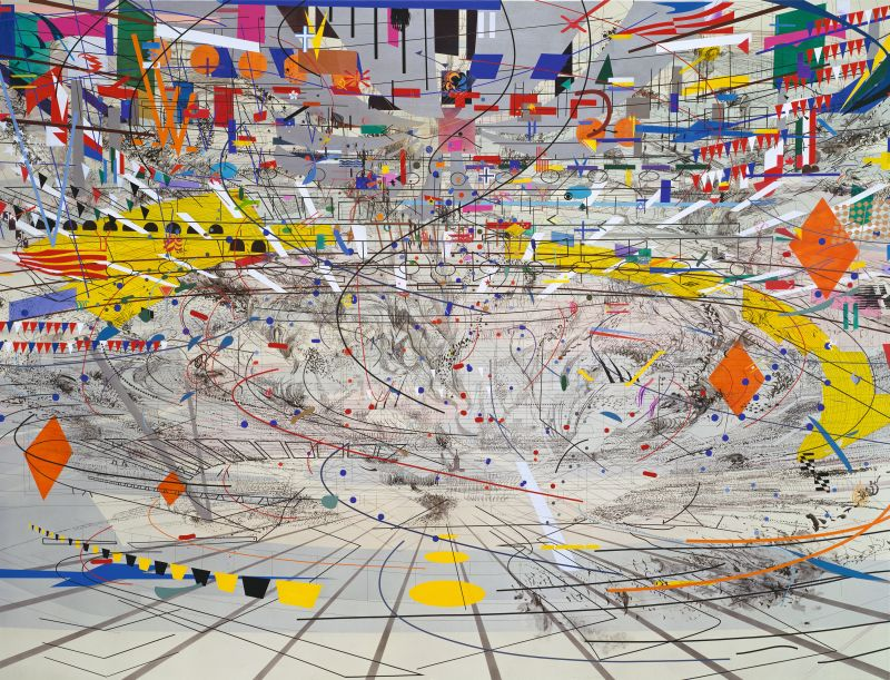 Julie Mehretu, Stadia II, 2004. © Julie Mehretu, photo: courtesy of the Carnegie Museum of Art