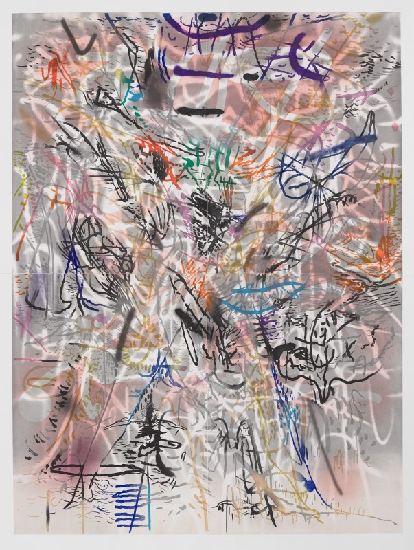 Julie Mehretu, Six Bardos: Transmigration, 2018. Courtesy of Gemini G.E.L., LLC. © Julie Mehretu and Gemini G.E.L., LLC, photo: © White Cube, Ollie Hammick