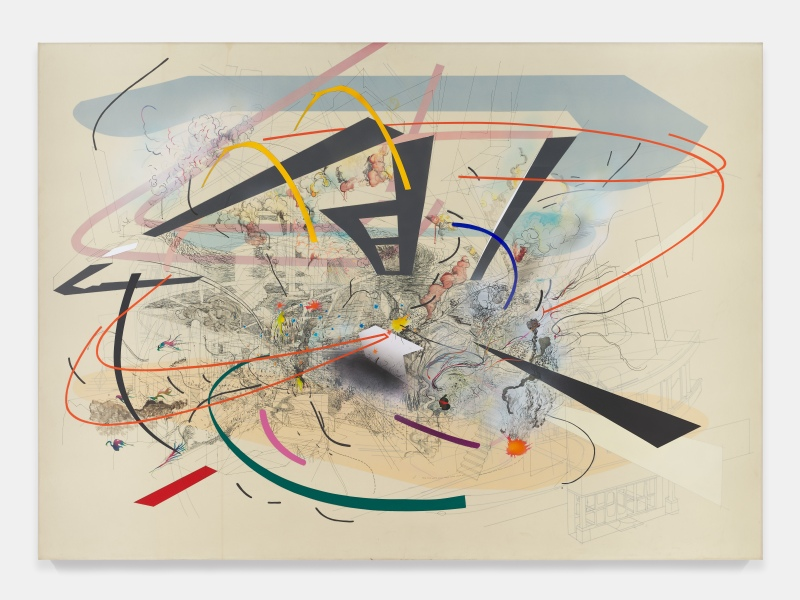 Julie Mehretu, Untitled 2, 2001. Courtesy of Salon 94, New York. © Julie Mehretu, photo: Tom Powel Imaging