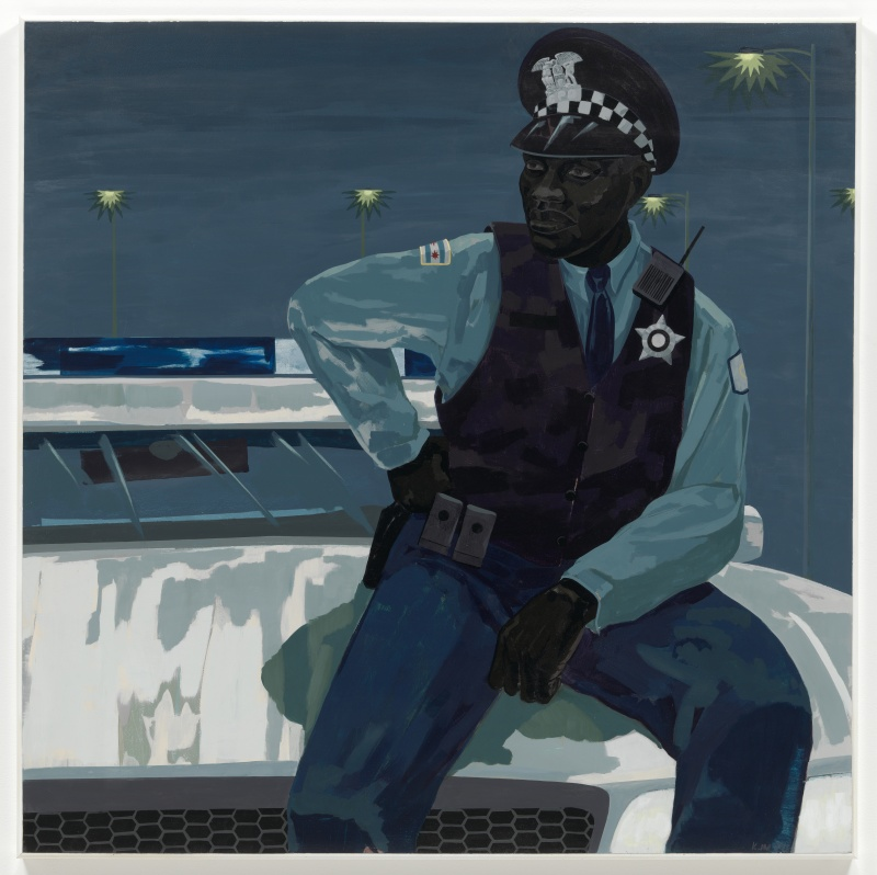 Kerry James Marshall, Untitled (policeman), 2015. © Kerry James Marshall. Courtesy the artist and Jack Shainman Gallery, New York